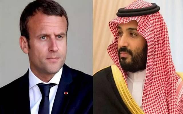 ولي العهد السعودي الأمير محمد بن سلمان والرئيس الفرنسي إيمانويل ماكرون - أرشيفية