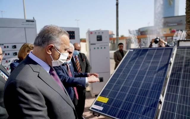 رئيس الوزراء على هامش افتتاح معرض صنع في العراق الذي تقيمه وزارة الصناعة في معرض بغداد الدولي
