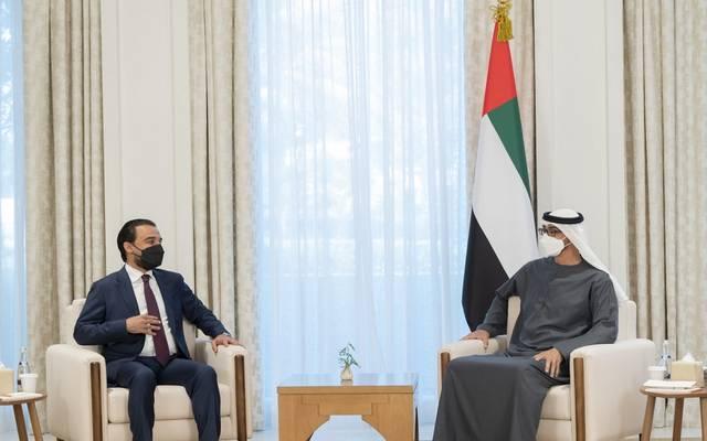 الشيخ محمد بن زايد ومحمد الحلبوسي