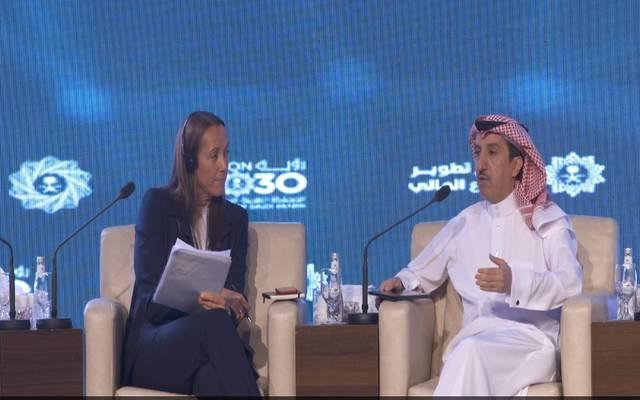 وكيل محافظ مؤسسة النقد العربي السعودي- ساما للرقابة،  فهد الشثري، خلال كلمته في مؤتمر يورومني السعودية