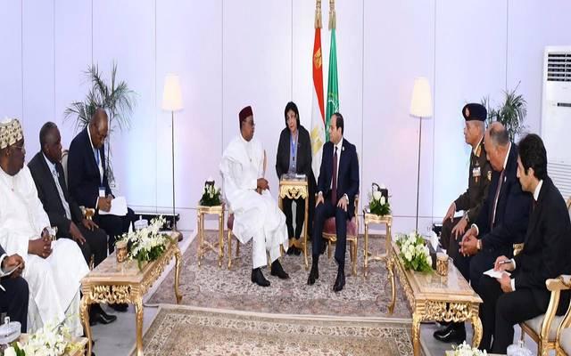 خلال اجتماع الرئيس عبدالفتاح السيسي اليوم مع رئيس النيجر
