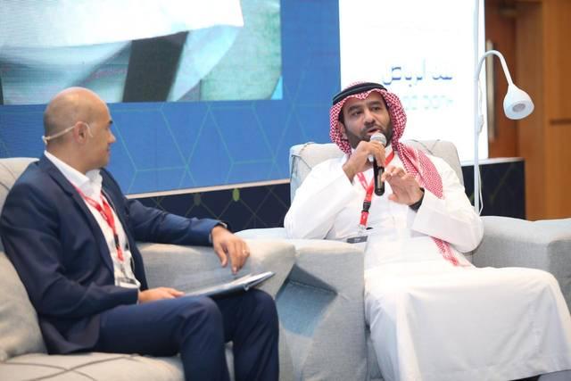 """ريان فايز المدير الإداري والرئيس التنفيذي للبنك السعودي الفرنسي خلال كلمته على هامش مؤتمر """"عرب نت"""" بالرياض"""