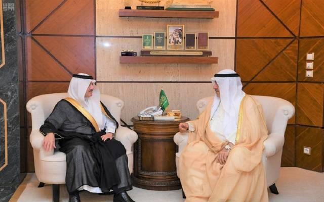 جانب من لقاء أمير الشرقية رئيس اللجنة المنظمة لمعرض الكويت للطيران 2020