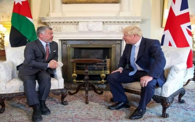العاهل الأردني ورئيس وزراء بريطانيا ـ أرشيفية