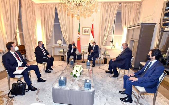 خلال لقاء الرئيس السيسي، مع رئيس وزراء البرتغال