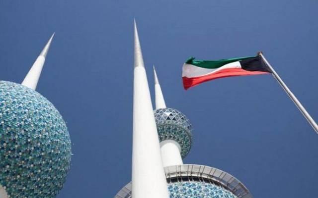 علم الكويت يرفرف عند منطقة أبراج الكويت