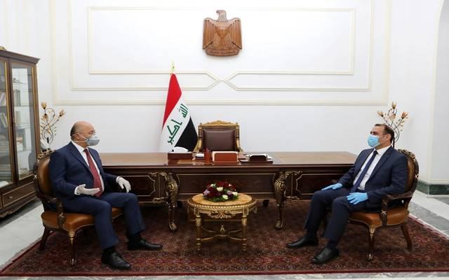 الرئيس العراقي يؤكد أهمية مضاعفة الجهود لإيجاد سياسة مالية تحقق الاستقرار