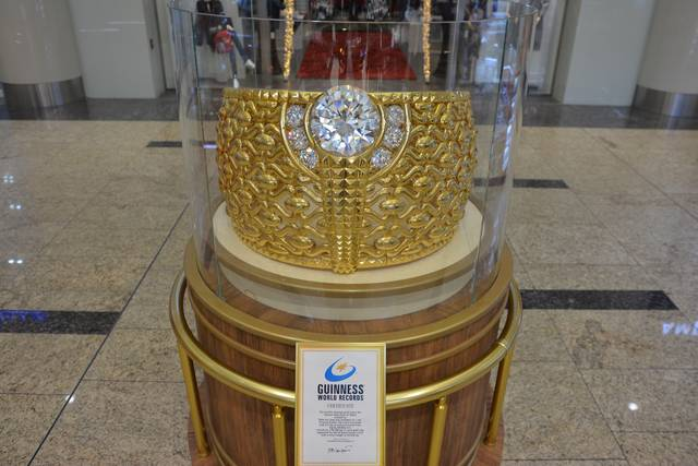 The $3 million 21-carat ring weighs around 64 kilograms