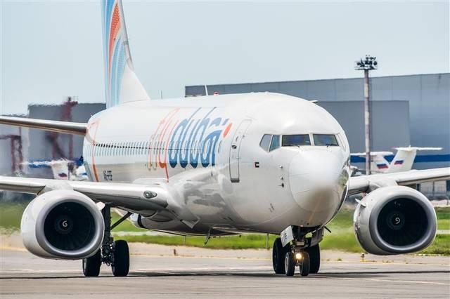إحدى الطائرات التابعة لشركة فلاي دبي