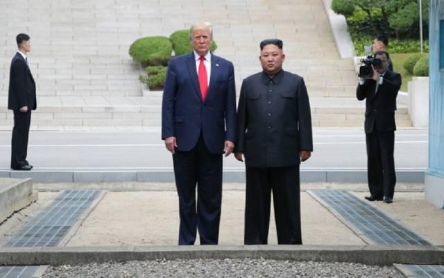 نتيجة بحث الصور عن ترمب والكوري على الحدود