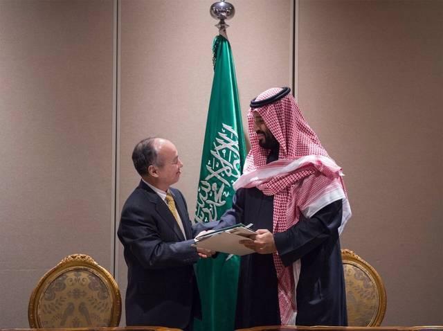 Saudi Crown Prince Mohammad Bin Salman signed the agreement with Softbank