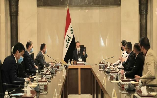 رئيس مجلس الوزراء العراقي، مصطفى الكاظمي، يستقبل وفداً يمثل الأطباء المقيمين والدوريين