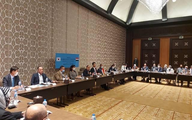 وزير المالية خلال ندوة مع المستثمرين الكوريين العاملين بمصر