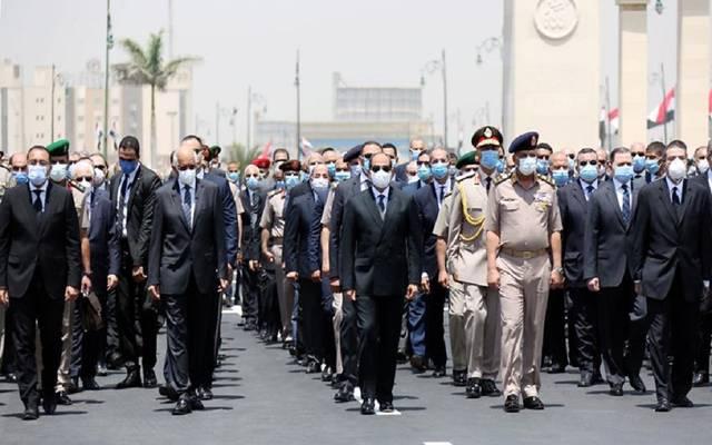 الرئيس السيسي يتقدم الجنازة العسكرية للفريق محمد العصار