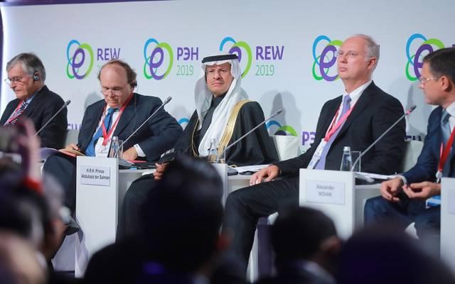 وزير الطاقة السعودية خلال مشاركته بأسبوع الطاقة الروسي