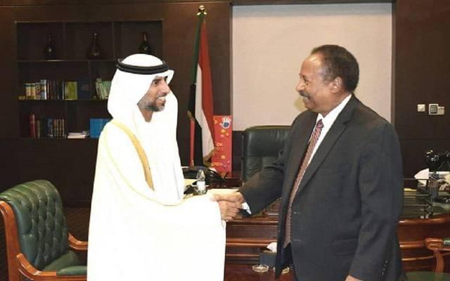 خلال استقبال رئيس وزراء السودان للوفد الإماراتي