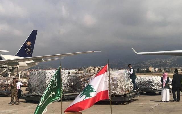 جزء من المساعدات السعودية للبنان