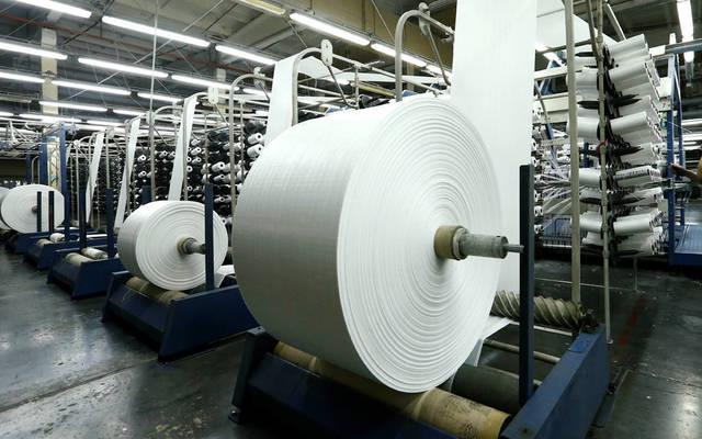 خطوط إنتاج الأقمشة بشركة مصانع الأجواخ الأردنية