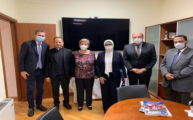 خلال لقاء وزيرة الصحة المصرية مع رئيس الوزراء الإيطالي