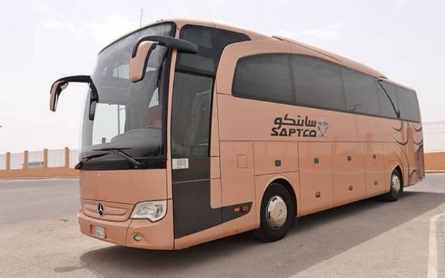 حافلة تابعة للشركة السعودية للنقل الجماعي (سابتكو) - أرشيفية