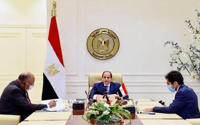 الرئيس السيسي خلال مشاركته في المؤتمر الدولي لدعم لبنان