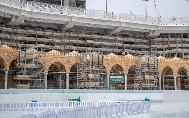جانب من أعمال التوسعة السعودية الثالثة للمسجد الحرام