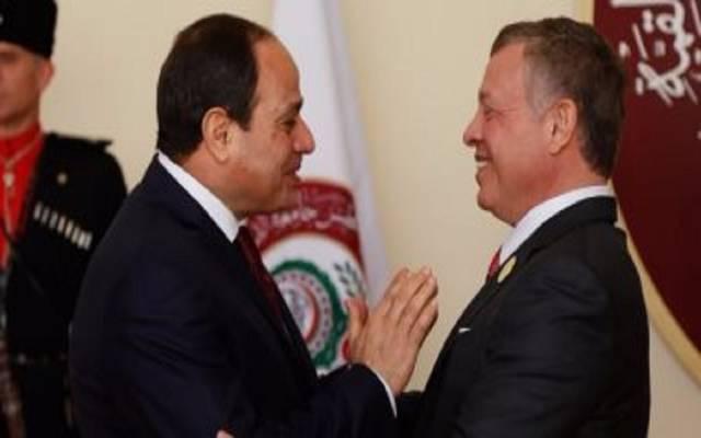 الرئيس السيسي والملك عبدالله  ـ أرشيفية