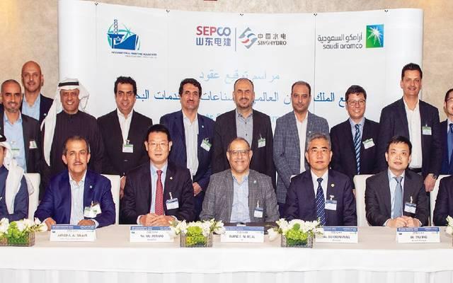 توقيع عقدين لتنفيذ مصانع إنتاج السفن بمجمع الملك سلمان العالمي
