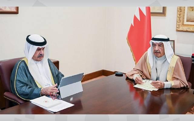 رئيس مجلس الوزراء البحريني خلال الاجتماع