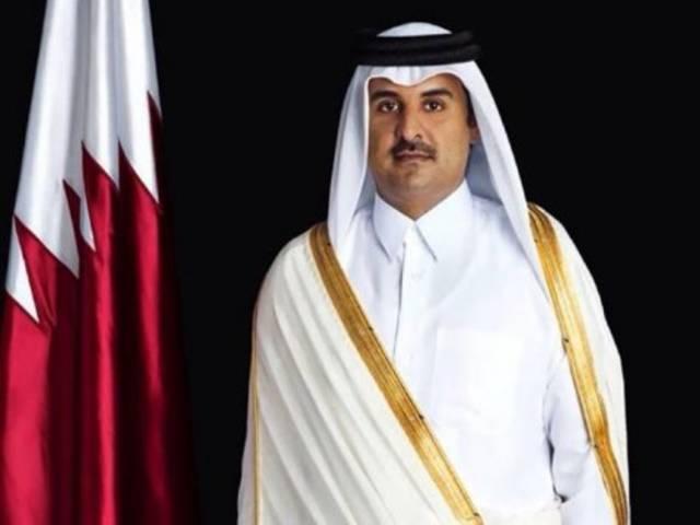 أمير قطر يلتقي مع رئيسة وزراء المملكة المتحدة