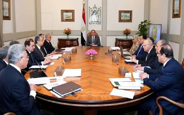 الرئيس السيسي خلالاجتماع حكومي اليوم السبت