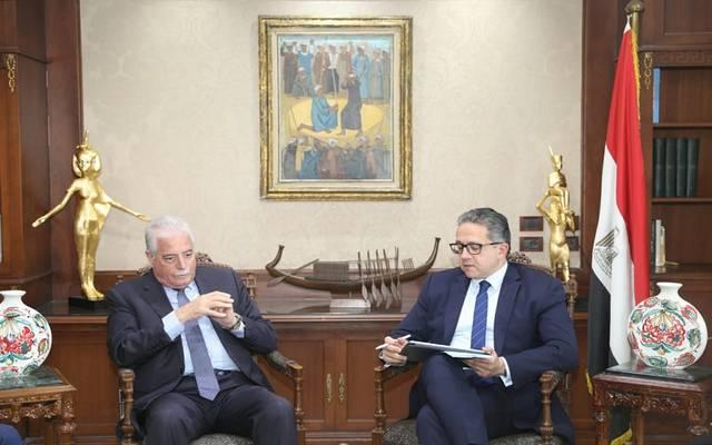 وزير السياحة المصري في اجتماع مع محافظ جنوب سيناء