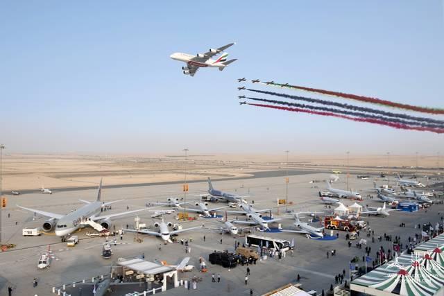 طائرة من معرض دبي للطيران