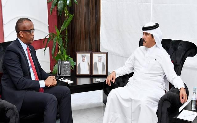 خلال استقبال النائب الثاني لرئيس غرفة قطر وزير العمل الصومالي