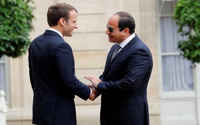 بدء القمة المصرية الفرنسية بين السيسي وماكرون بقصر الاتحادية