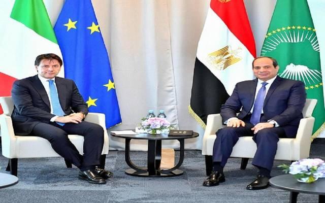 لقاء الرئيس السيسي ورئيس وزراء إيطاليا