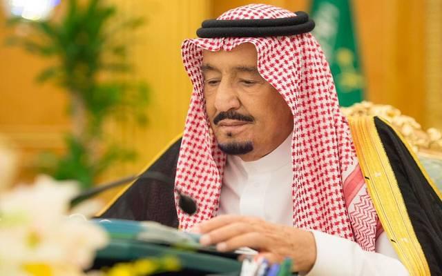 خادم الحرمين الشريفين الملك سلمان بن عبدالعزيز آل سعود خلال اجتماع مجلس الوزراء - أرشيفية