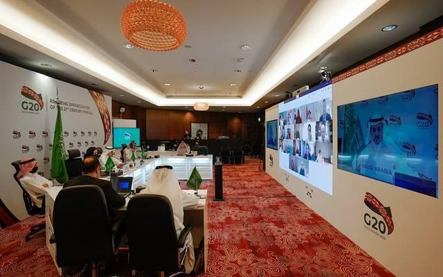 جانب من الاجتماع الأول لوكلاء وزراء المياه وكبار مسؤولي المياه في دول المجموعة