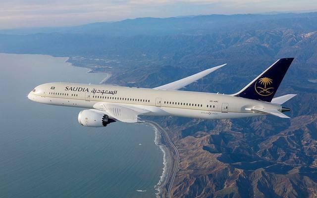 طائرة على الخطوط السعودية
