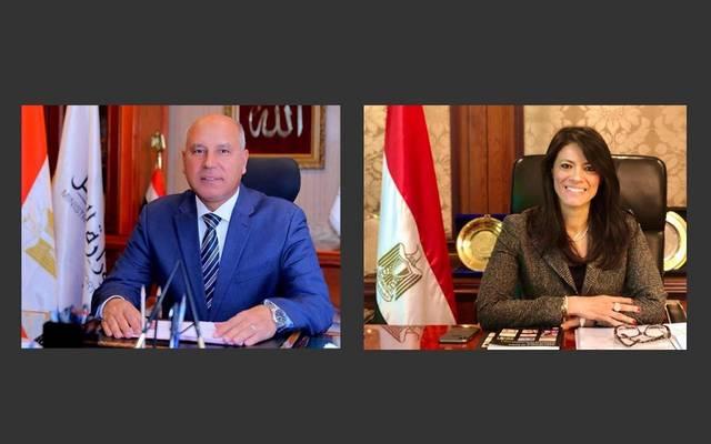 رانيا المشاط، وزيرة التعاون الدولي، وكامل الوزير، وزير النقل