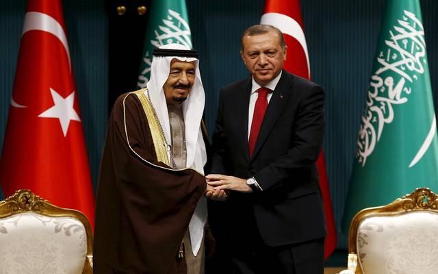 الملك سلمان بن عبدالعزيز والرئيس التركي رجب طيب أردوغان - صورة أرشيفية