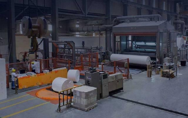 خط إنتاج تابع للشركة السعودية لصناعة الورق