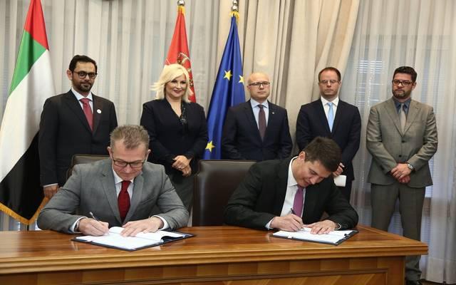 جانب من توقيع الاتفاقية - مباشر