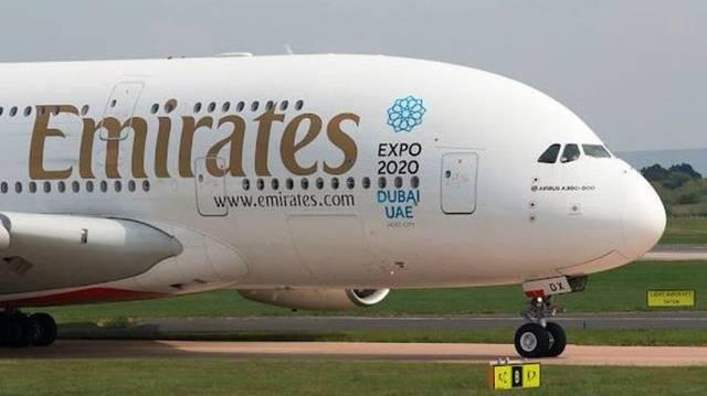 طائرة تابعة لمجموعة طيران الإمارات