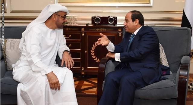 الرئيس السيسي والشيخ محمد بن زايد ـ أرشيفية