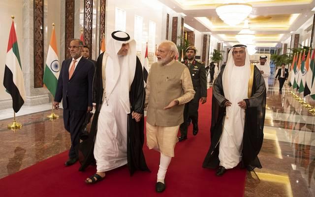 رئيس الوزراء الهندي يصل إلى الإمارات