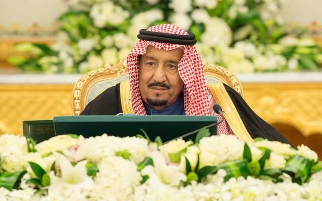العاهل السعودي، الملك سلمان بن عبد العزيز آل سعود خلال رئاسة جلسة سابقة لمجلس الوزراء، أرشيفية