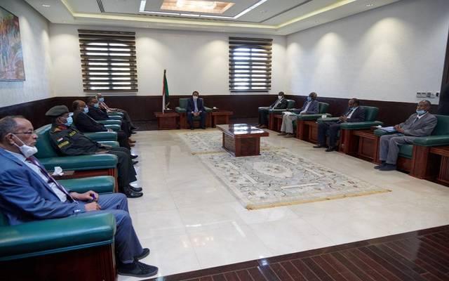 جانب من اجتماع اللجنة السودانية العليا لمتابعة ملف سد النهضة