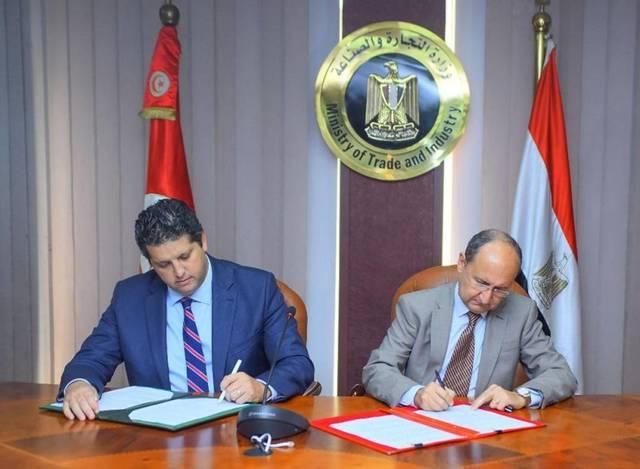 Egyptian exports to Tunisia amounted to $176 million, while imports from Tunisia stood at $38 million