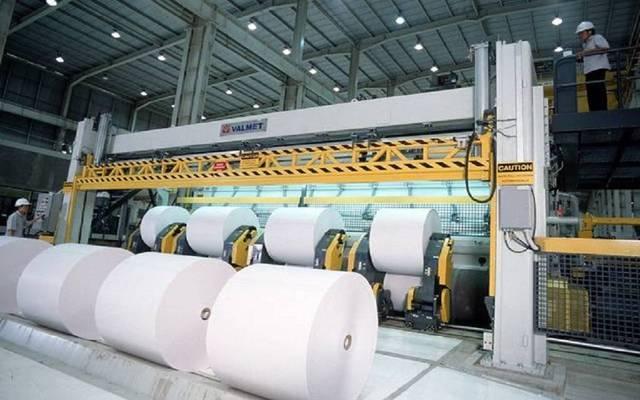"""خط إنتاج تابع للشركة السعودية لصناعة الورق """"صناعة الورق"""""""